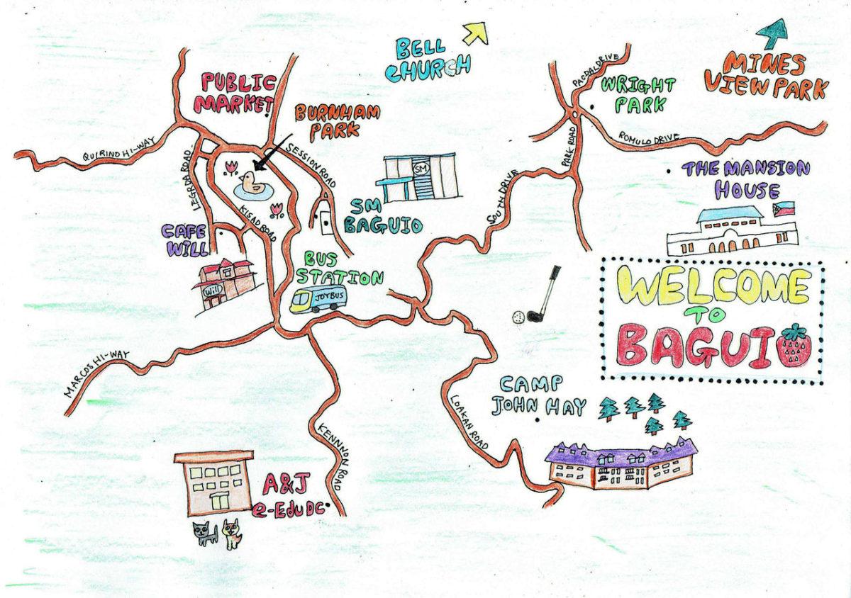 バギオの観光地図