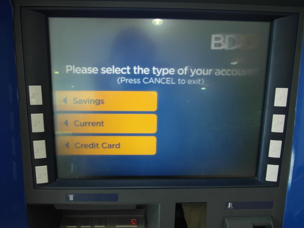 ATM Savingを選択 重要