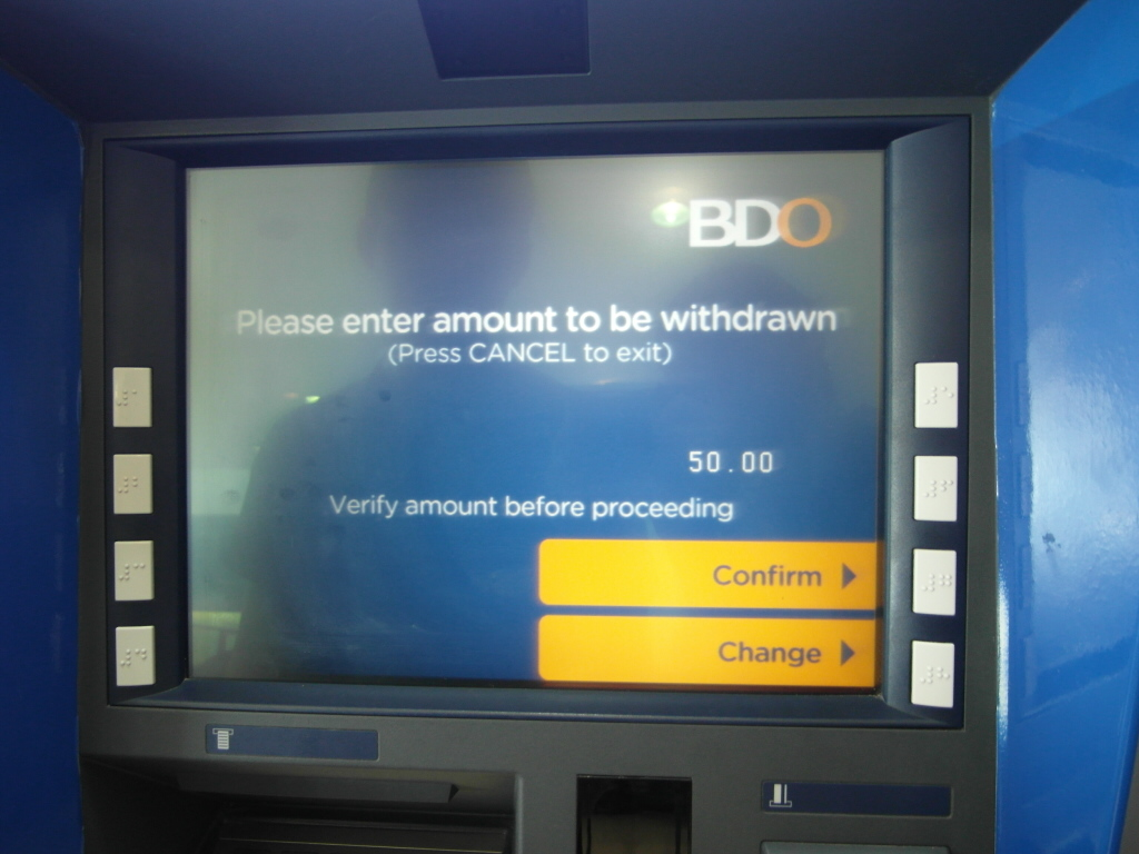 ATM 引き出し金額入力