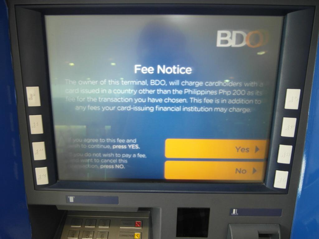 ATM 手数料の承認