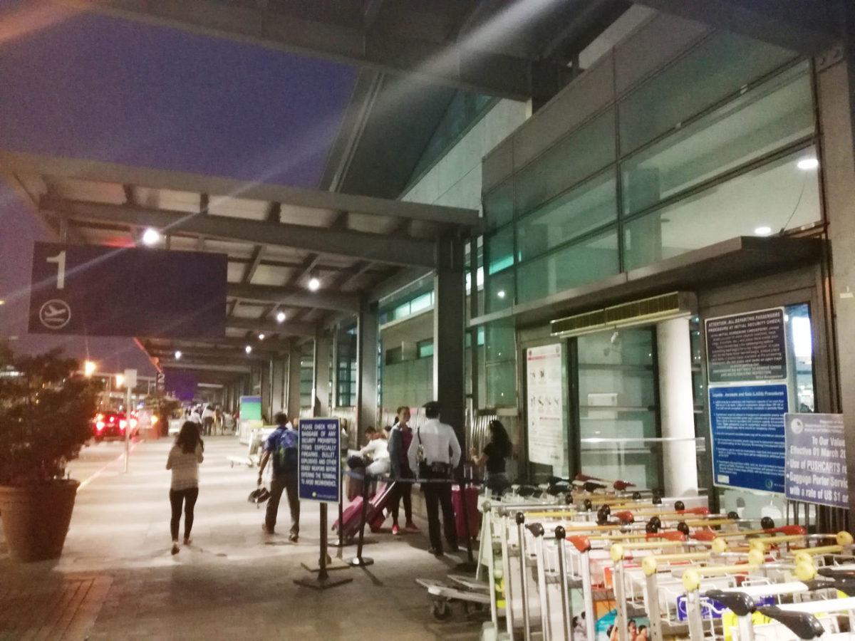 マニラ空港第3ターミナル入り口