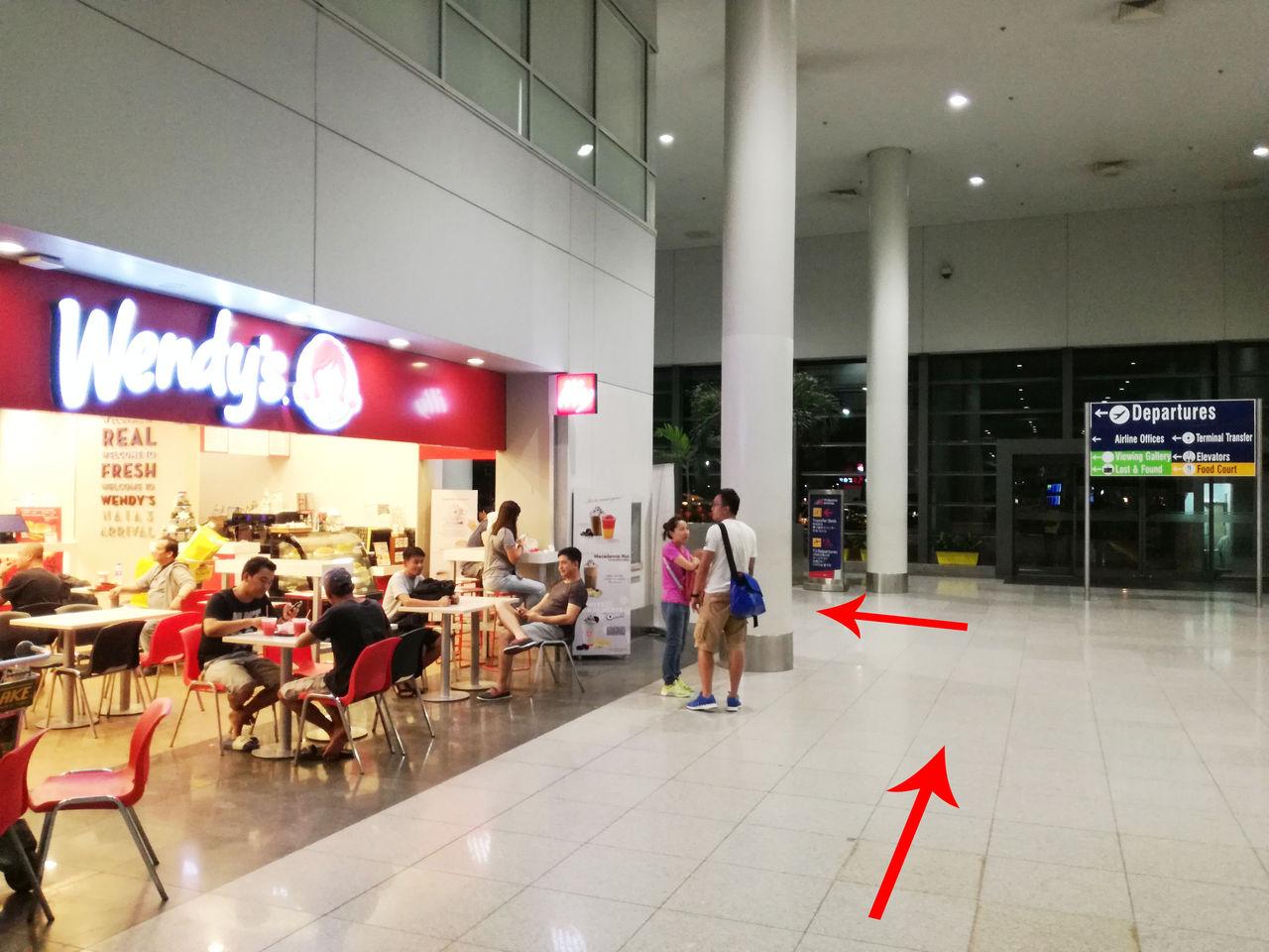 マニラ空港第3ターミナル ウェンディーズ
