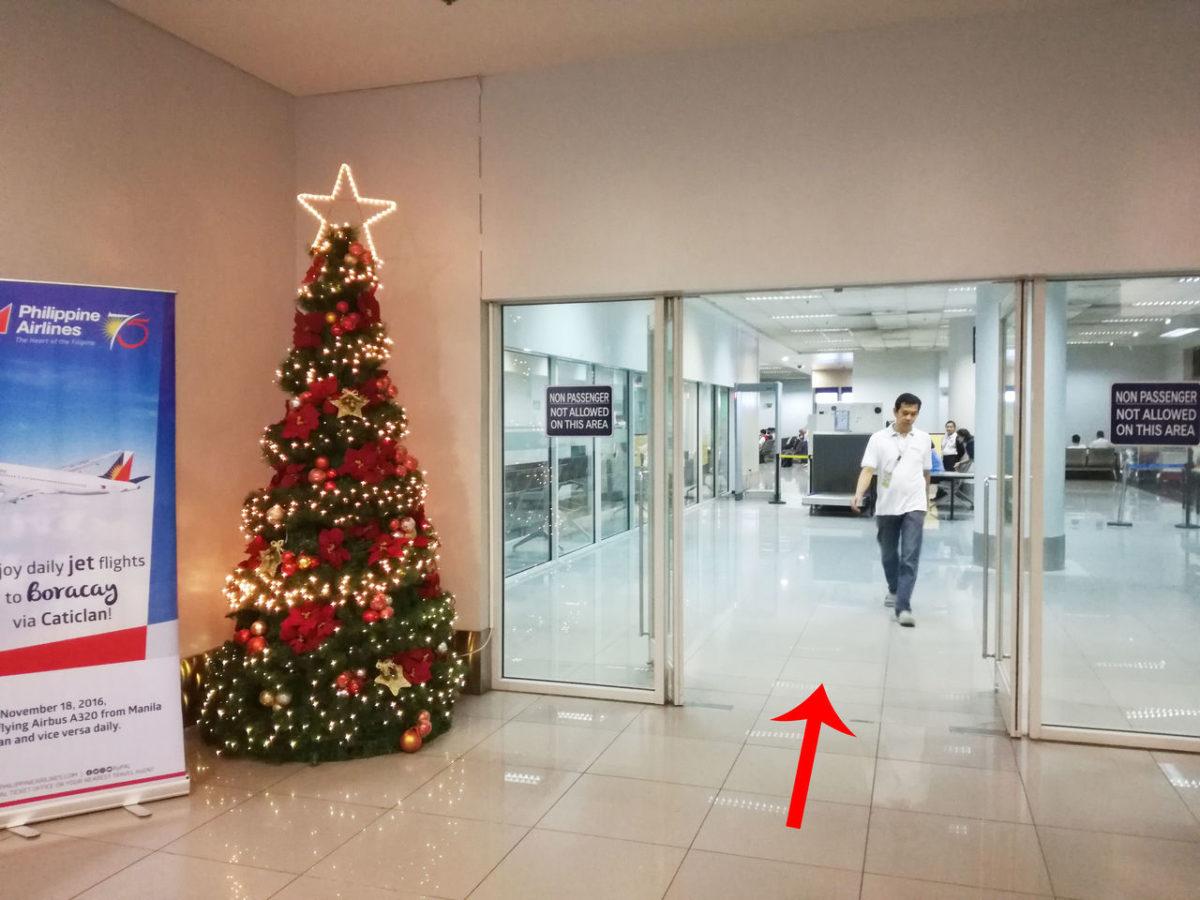 マニラ空港第3ターミナル シャトルバス乗り場入り口