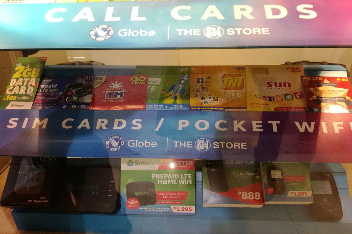 フィリピン国内用SIMカード