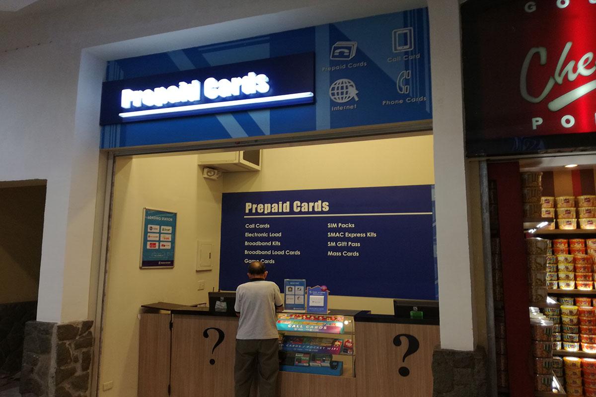 SIMカード・コールカード売店