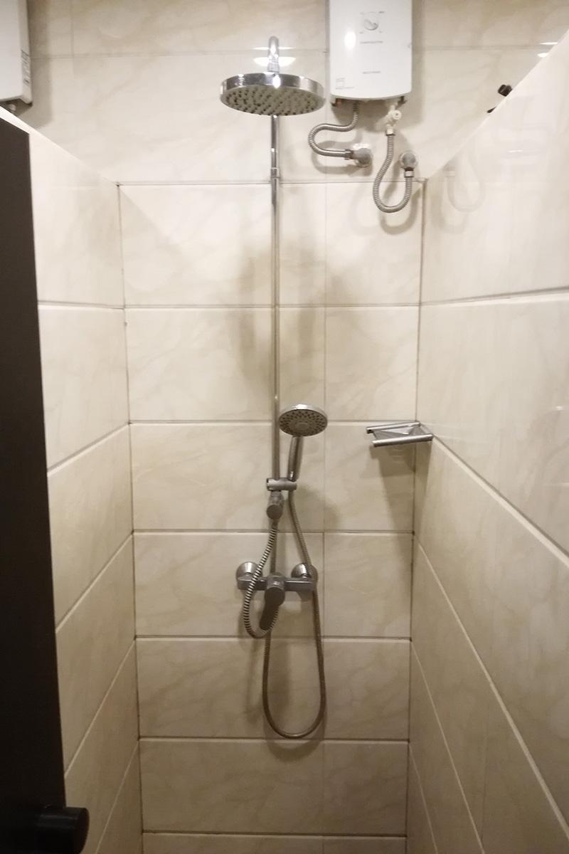 シャワーのクオリティは問題なし