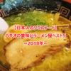 バギオの美味いラーメン屋ベスト5~2018年~